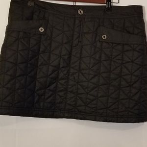 The north face quilted skirt Black Sz 14